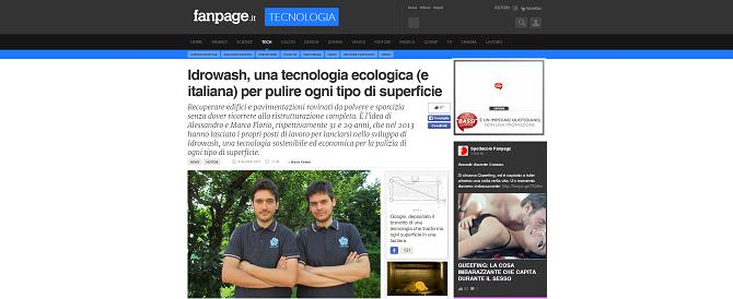Idrowash, una tecnologia ecologica (e italiana) per pulire ogni tipo di superficie.