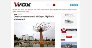 Due startup veronesi ad Expo: Alghitaly e Idrowash.