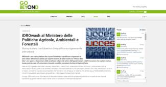 iDROwash al Ministero delle Politiche Agricole, Ambientali e Forestali. Startup italiana con l'obiettivo di riqualificare e rigenerare le aree urbane