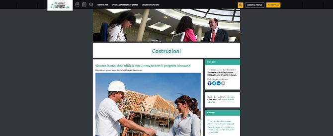 Vincere la crisi dell'edilizia con l'innovazione: il progetto Idrowash