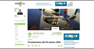 Radio 24 – Focus Economia di Sebastiano Barisoni