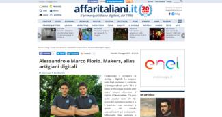 Alessandro e Marco Florio. Makers, alias artigiani digitali
