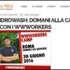 iDROwash: domani alla Camera dei deputati con i wwworkers