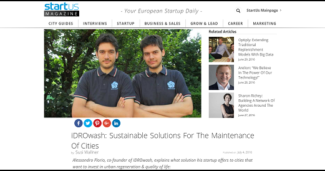 iDROwash: Sustainable Solutions For The Maintenance Of Cities