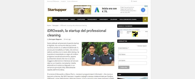 iDROwash, la startup del professional cleaning