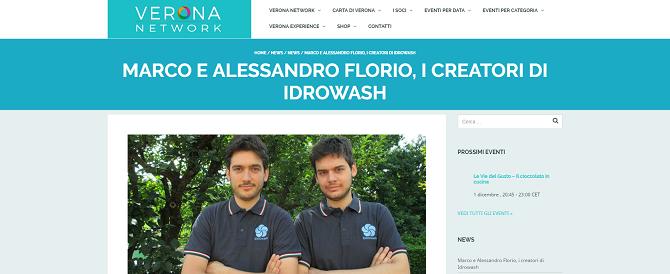 Marco e Alessandro Florio, i creatori di iDROwash