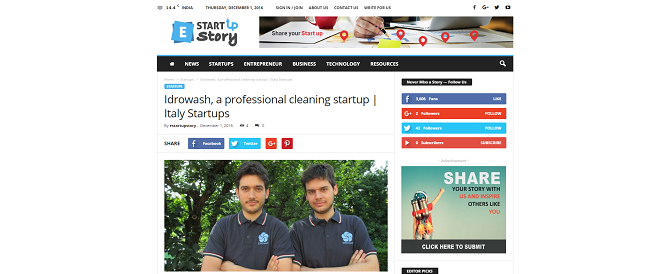 Idrowash, a Professional Cleaning Startup: Italy Startups
