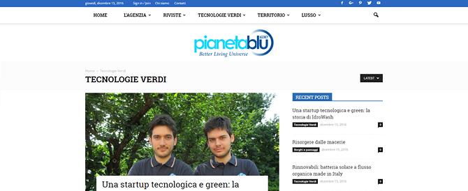 Una startup tecnologica e green: la storia di iDROwash