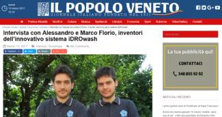 Alessandro e Marco Florio, inventori dell'innovativo sistema iDROwash