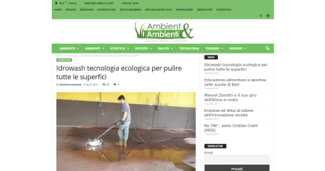 Idrowash tecnologia ecologica per pulire tutte le superfici