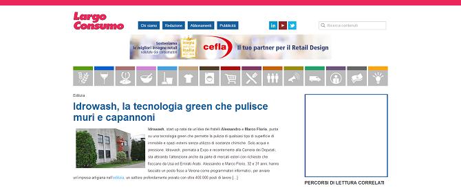 iDROwash, la tecnologia green che pulisce muri e capannoni