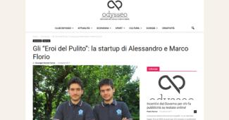 """Gli """"Eroi del Pulito"""": la startup di Alessandro e Marco Florio"""