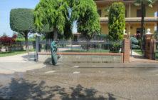 Muretto di recinzione in mattoni 1