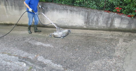 Rampa e muro in cemento 3