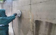 Rampa e muro in cemento 4
