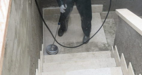 Scala esterna in marmo 4
