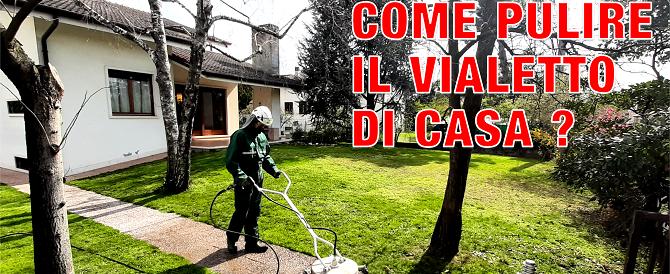 Come pulire il vialetto di casa