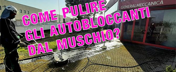 Come pulire gli autobloccanti dal muschio